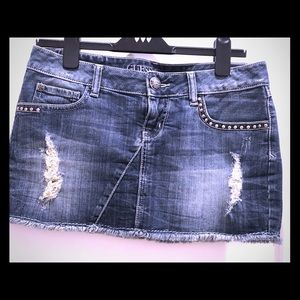 Jeans Mini Skirt by Guess
